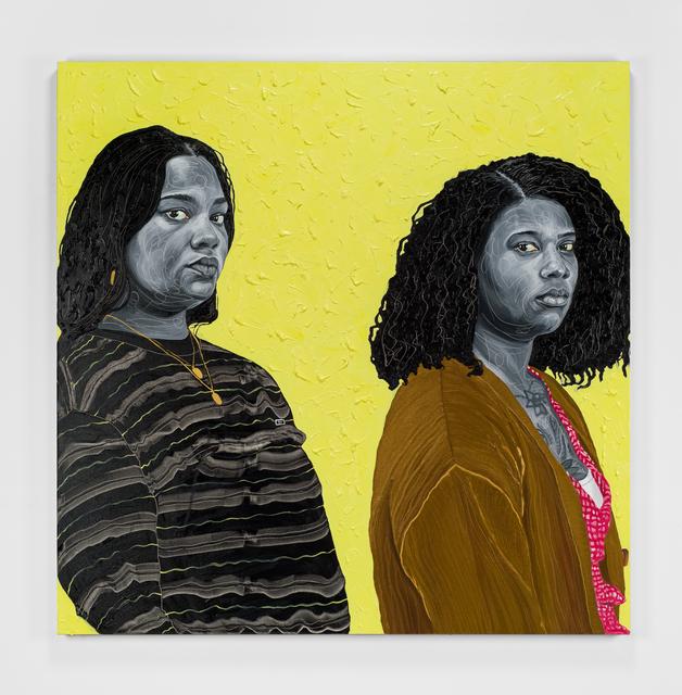 Otis Kwame Kye Quaicoe, 'Olivia & Ivy', 2021, Painting, Oil on canvas, Roberts Projects