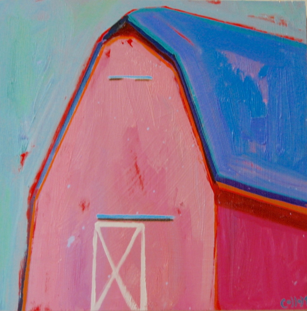 , 'Pink Barn,' 2018, Tim Collom Gallery