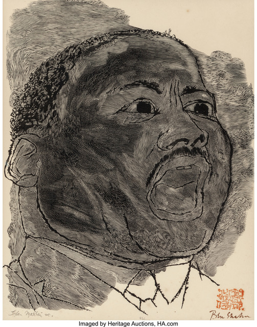 Ben Shahn, 'Martin Luther King', 1966, Heritage Auctions