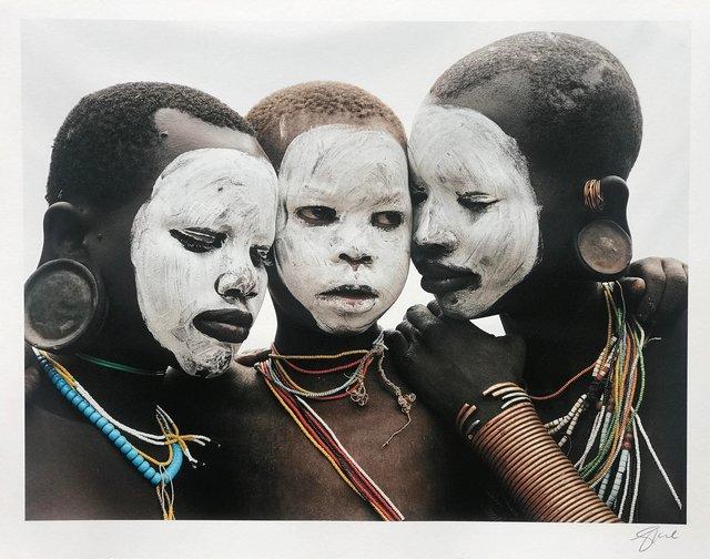 , 'Family, Surma, Ethiopia ,' 1996, 99Prints