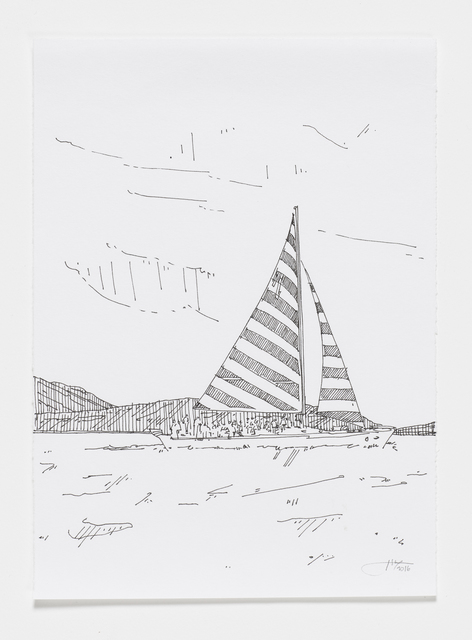 , 'Sailboat,' 2016, Reynolds Gallery