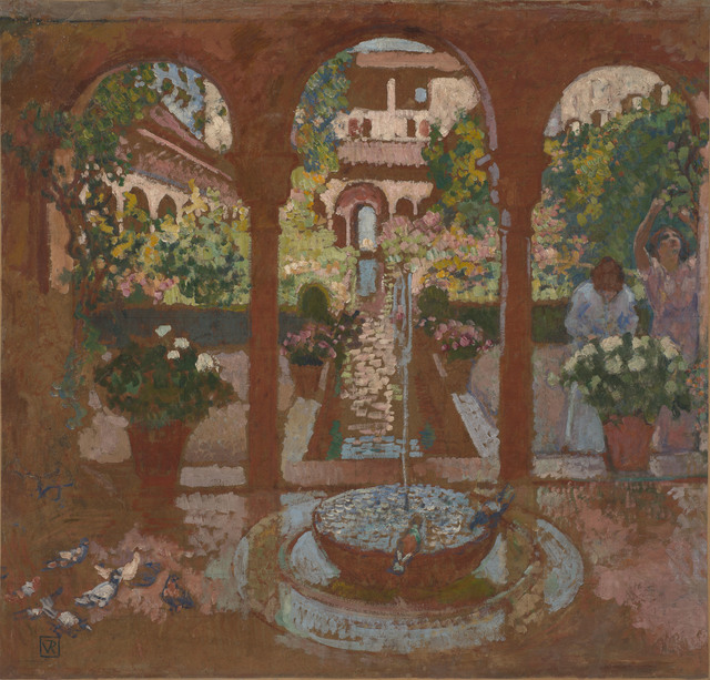 , 'Garden of the Generalife in Granada,' 1913, de Young Museum