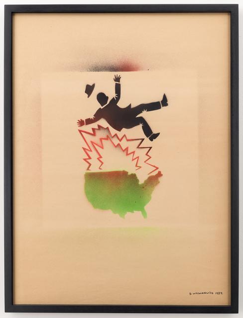, 'Untitled (Falling Man and Map of USA),' 1982, P.P.O.W
