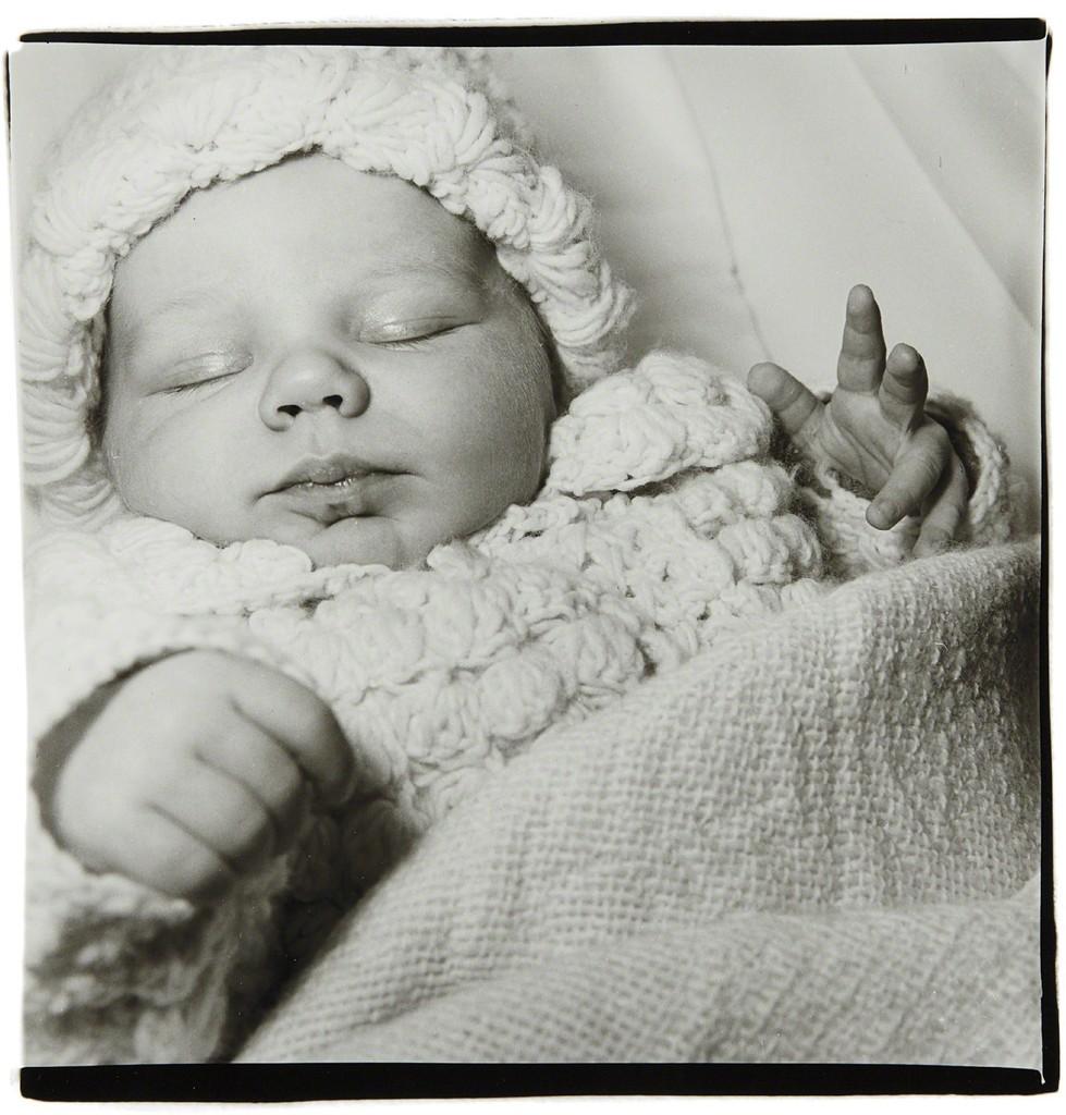 A sleeping baby, N.J.