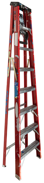 Jennifer Williams, 'Large Folding Ladder: Red with Black Top and Tape', 2014, Robert Mann Gallery