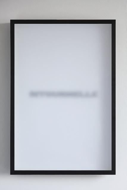 , 'Le Masque et le Miroir,' 2011, Galerie Anne-Sarah Bénichou