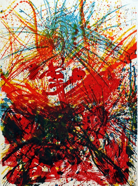 , 'Untitled Abstract Expressionist Mid Century Color Lithograph,' 1961, Alpha 137 Gallery