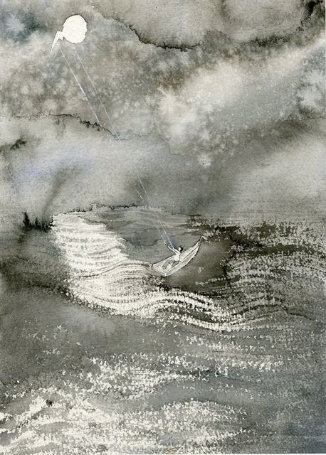 Jim Holyoak, 'Gone Away', Year unknown , Drawing, Collage or other Work on Paper, India ink, bG Gallery
