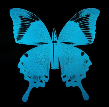 , 'Blue Bullet Fly on Black N - 1,' 2015, Octavia Art Gallery