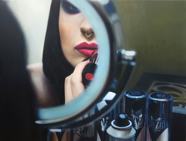 , 'Still life with Lipstick, Make-up and Mirror,' 2018, Albemarle Gallery | Pontone Gallery
