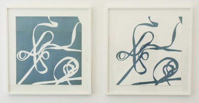 , 'Weißes Bändele / Blaues Bändele,' 2012, Produzentengalerie Hamburg