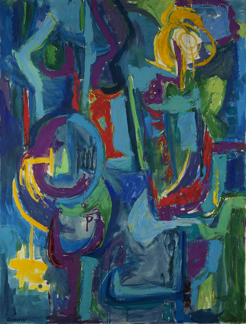 , 'Blue Figures,' 1954, Berry Campbell Gallery