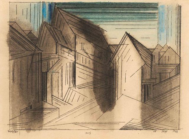 , 'Dorf,' 1923, Moeller Fine Art