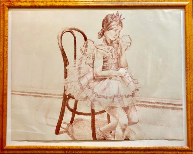 Philip Pearlstein, 'Girl in Ballerina Dress (Thonet Chair) Color Lithograph, American Modernist', 1970-1979, Lions Gallery