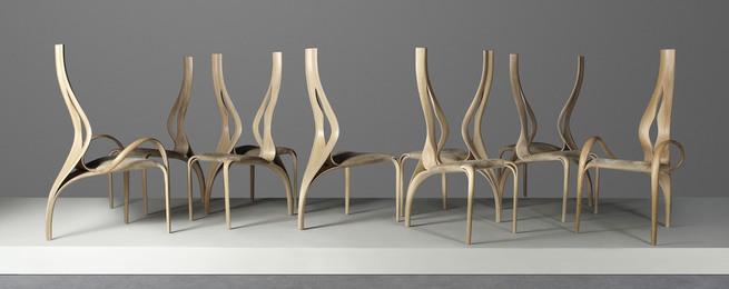 A unique set of ten 'Enignum I' chairs