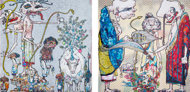Takashi Murakami, 'Assignation of a Spirit!; and 4 Arhats, One with Four Eyes', 2013/14, Phillips