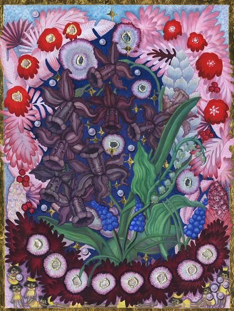 , 'Yankee Neocolonial Garden: Hybrid Narcissus-Orichid with Chiquita Girls Brooding,' 2016, Monya Rowe Gallery
