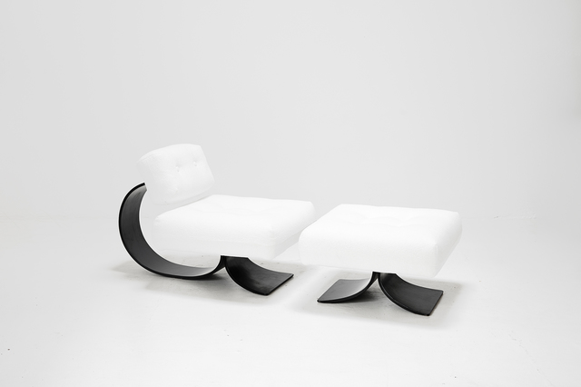 ", 'Lounge chair model ""Alta"",' 1978, Side Gallery"