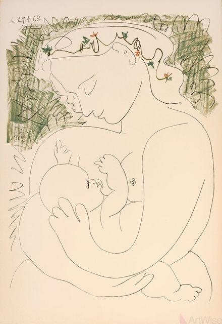 Pablo Picasso, 'La Grande Maternite', 1963, Ephemera or Merchandise, Stone Lithograph, ArtWise
