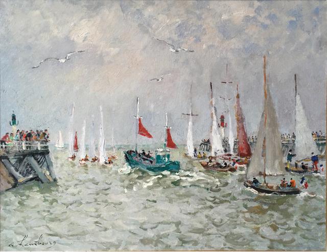 , 'Le bateau de peche vert aux voiles rouge,' , Daphne Alazraki Fine Art