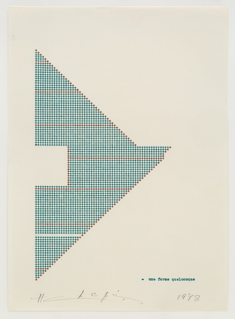 , 'Une Forme Quelconque,' 1978, Jane Lombard Gallery