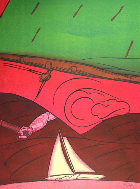 Valerio Adami, 'En Solitaire', 1984, Posner Fine Art