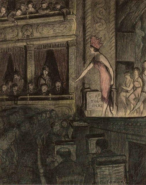 Glenn O. Coleman, 'A Music Hall Performance', Doyle