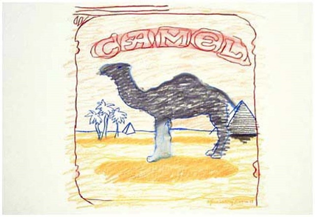 Larry Rivers, 'Blue Line Camel', 1978-1990, Marlborough Graphics