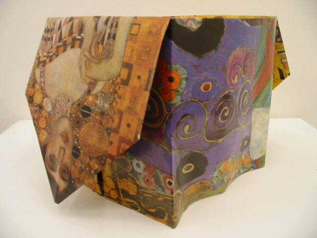 Pierre Bismuth, 'Origami boxes: one thing made of another, one thing used as another (Gustav Klimt)', 2004, Christine König Galerie