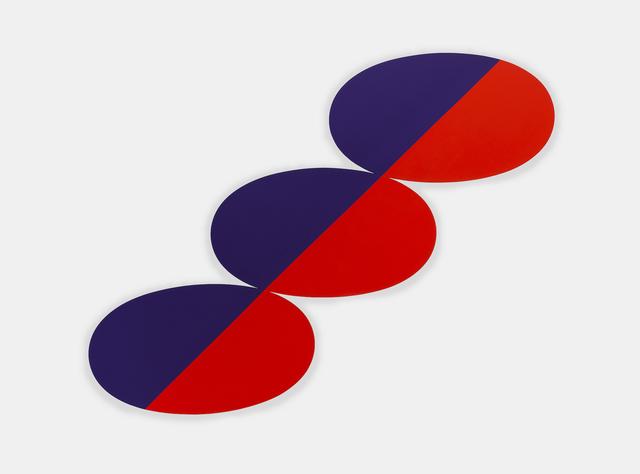 , 'Constel: Blue Red straight line thru three Ovals,' 1969, Richard Gray Gallery