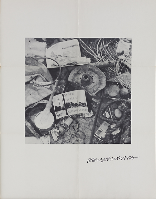 Robert Rauschenberg, '(Robert) Rauschenberg: 2nd Week November', 1961, Drawing, Collage or other Work on Paper, Lithograph on paper, Rago/Wright