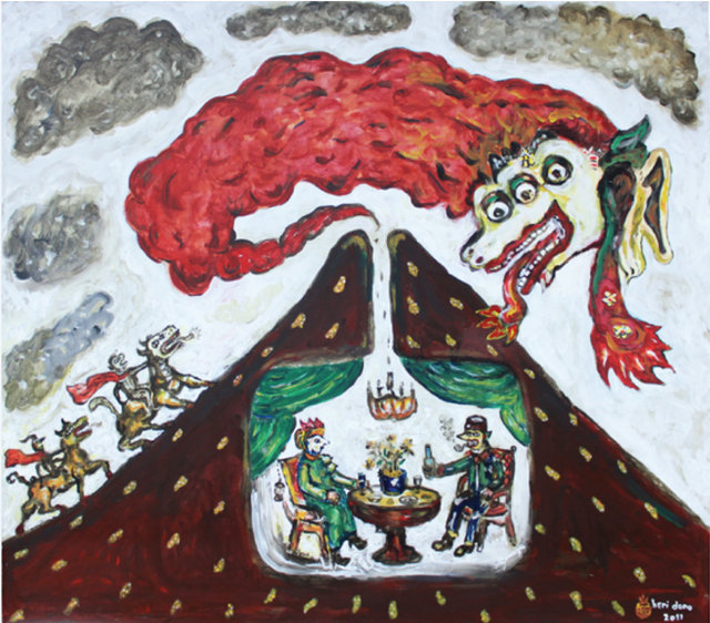 , 'Hot Clouds of Mount Merapi,' 2011, The Columns Gallery