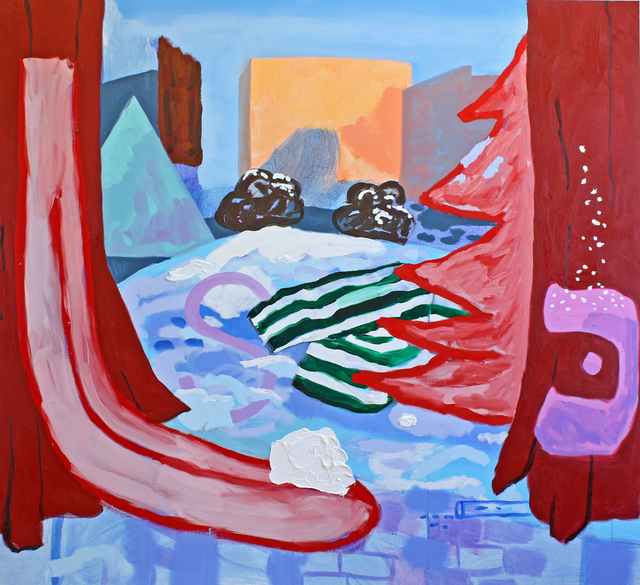 , 'Snowy City Park with Black Cindy and Suzanne Valadon,' 2016, G. Gibson Gallery