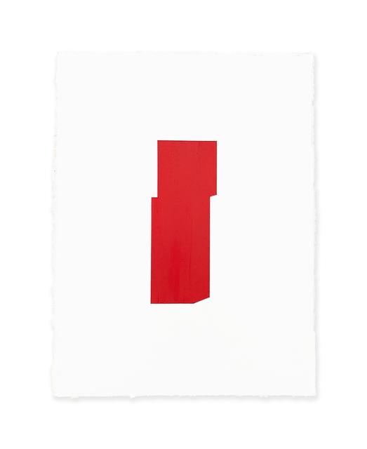 Jeff Kellar, 'white w/red', 2019, Richard Levy Gallery