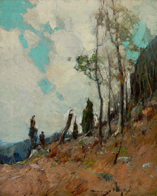 , 'On the Mountain Side ,' , Questroyal Fine Art