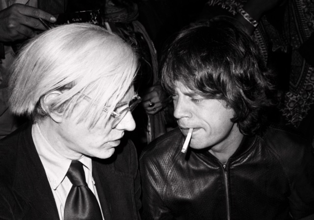 Lynn Goldsmith, 'Andy Warhol Mick Jagger ', 1977, Photography, Archival Digital Print, Mouche Gallery