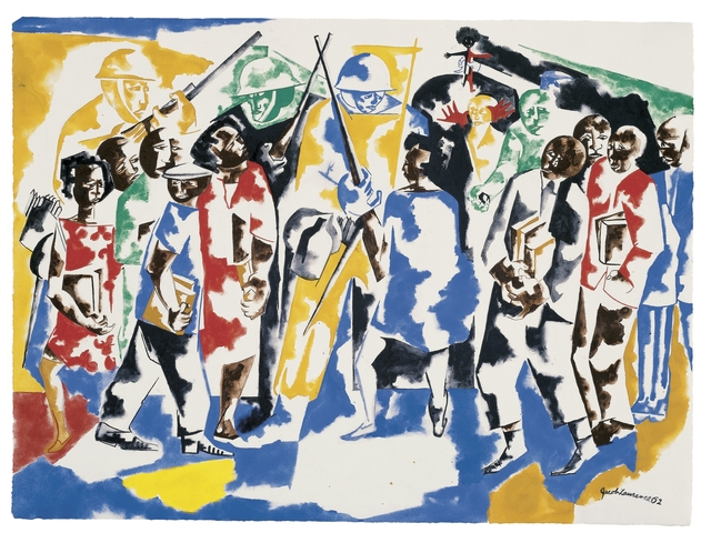 , 'Soldiers and Students,' 1962, Brooklyn Museum