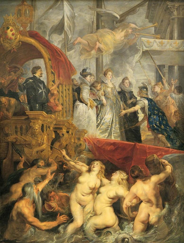 Peter Paul Rubens, 'Le debarquement de Marie de Médicis au port de Marseille le 3 November 1600 (Maria Medici arrives in Marseille, Nov. 3 1600),' ca. 1622-1625, Musée du Louvre