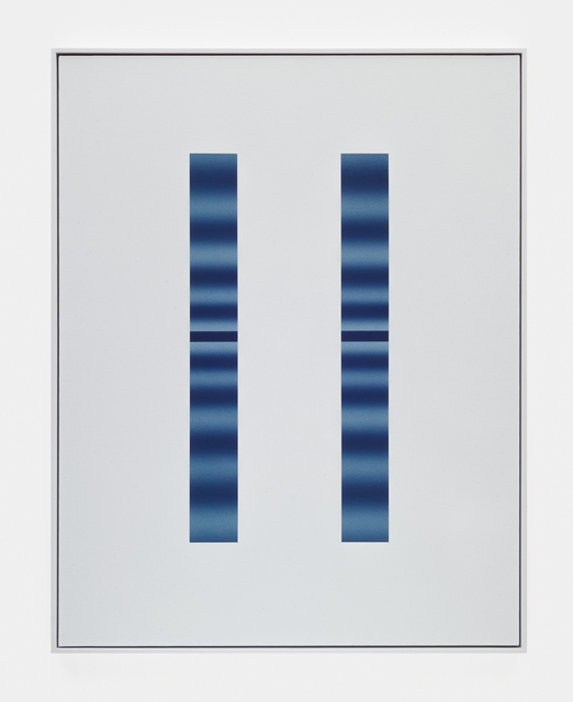 , 'Double Slit (Blue-Blue),' 2018, DOCUMENT