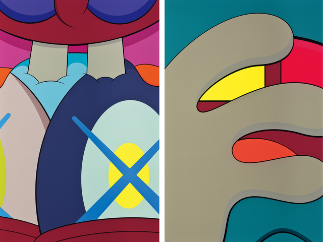 KAWS, 'Ups and Downs', 2013, Print, Downs screenprints on Sauders Waterford paper, Seoul Auction