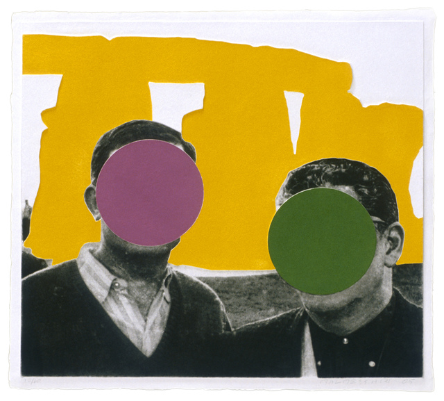 , 'Stonehenge (With Two Persons) Yellow,' 2005, Mixografia