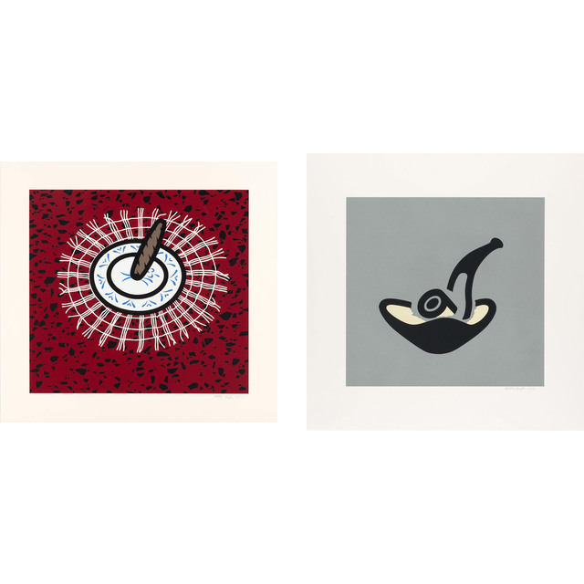 Patrick Caulfield, 'CIGAR; GREY PIPE (CRISTEA 57; 64)', 1978 and 1981, Doyle