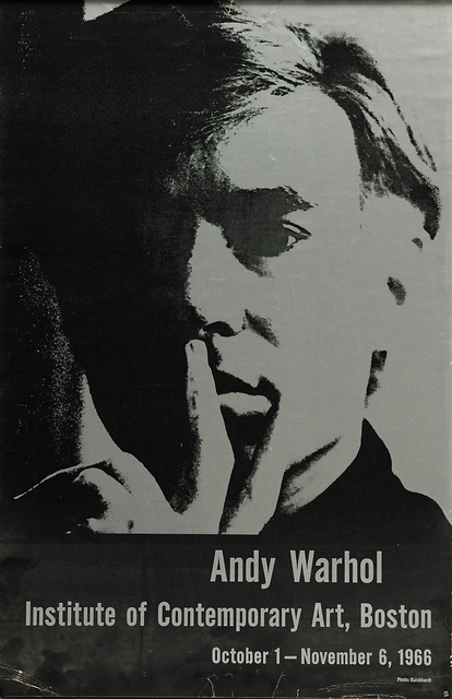 Andy Warhol, 'Self Portrait (1966 exhibition at Boston's Institute of Contemporary Art )', 1966, Print, Offset lithograph poster, Rago/Wright