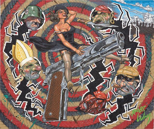 Robert Williams, 'Guns Don't Kill, Bullets Do', 1988, Phillips