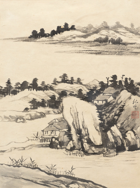 , 'Landscape after Shitao in Four Leaves,' ca. 1970, Art Museum of the Chinese University of Hong Kong