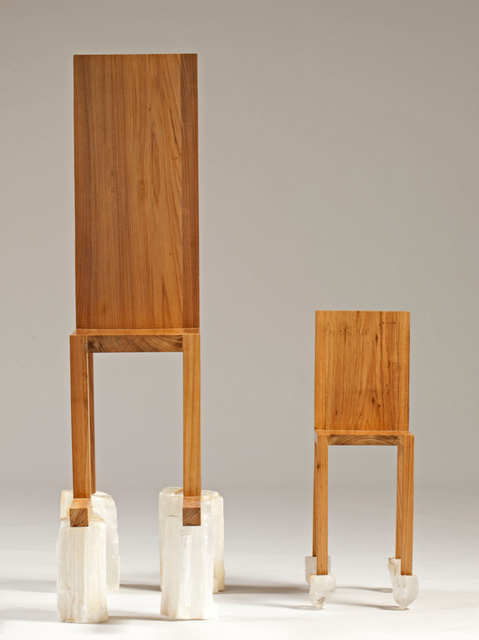 , 'Chair for Human Use with Chair for Spirit Use,' 2012, Galerie Krinzinger