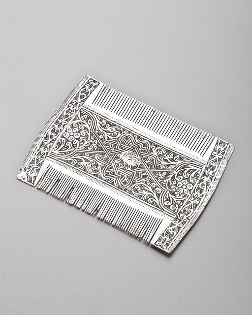 , 'Comb with Eight-Pointed Star, Floral and Knot Designs,' Before 1930, Phoenix Art Museum