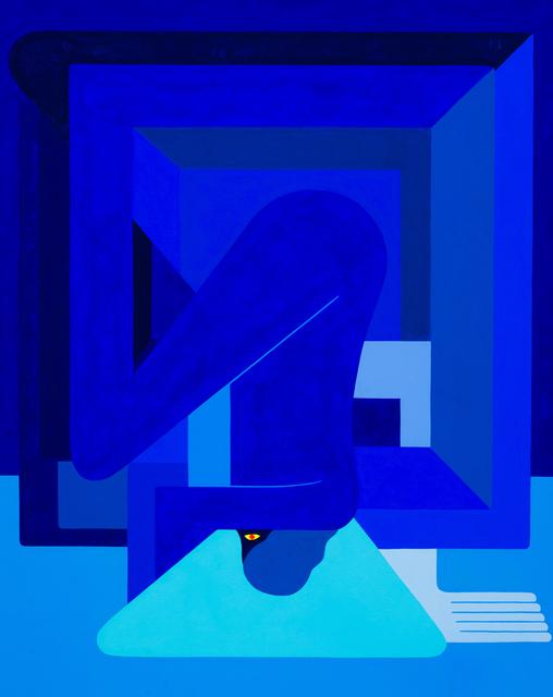 , 'Inverted, (Blue Figure) Left Facing,' 2018, V1 Gallery
