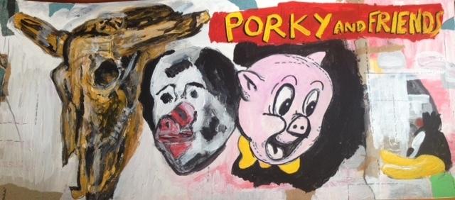 Luis Pérez Calvo, 'Porky and friends', 2017, Blanca Soto Arte