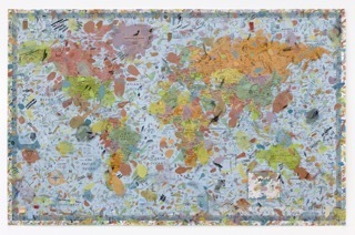 , 'World Map #2,' 2015, Mona Bismarck American Center